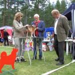 Mikkel vurderes af dommer Per-Erik Wallin og dommeraspirant Johnny Andersson