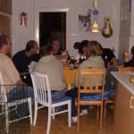 Efter træffet tog to svenske og én hollandsk familie med os hjem til Møn