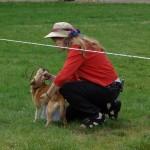 Vi demonstrerer hvordan lundehunden kan lægge hovedet bagover