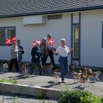 De danske hunde til racaparade