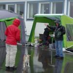 En regnfuld udstillingsdag